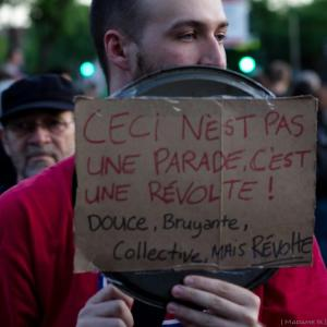 """""""This is not a parade. It is  a revolt. Soft, noisy, collective, but a revolt."""""""