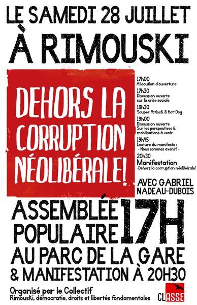 Assemblée Populaire à Rimouski