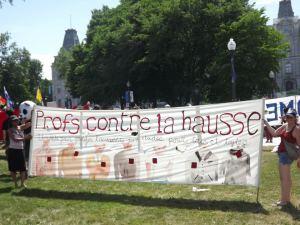 Profs contre la hausse à Québec 22 juin 2012. photo: inconnu/unknown