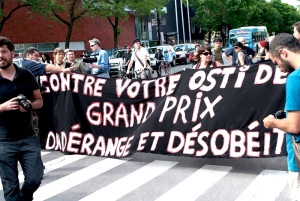 lors de la manif à St-Henri / During a demonstration in St-Henri - 8 juin 2012