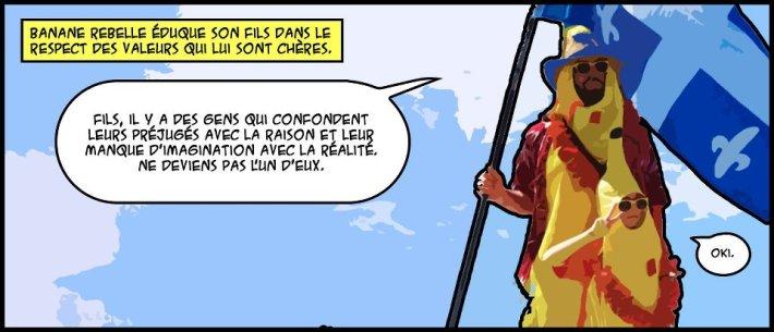 Banane Rebelle et fils en bande dessinée.