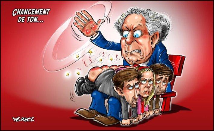 caricature publié dans le Journal de Québec par Ygrek - 15 mai 2012