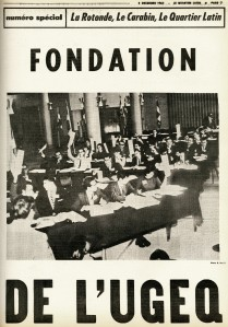 Special edition. 8 December 1964. The founding of UGEQ. Quartier Latin Archives.