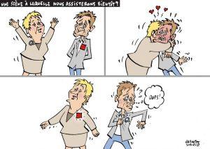 Caricature de Michel Garneau, alias Garnotte, Le Devoir 25 juillet 2012