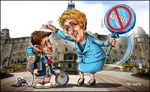 Caricature par Yannick Lemay, alias Ygreck. 6 septembre 2012.