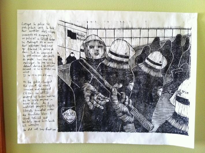 poster seen on 1 March 2014. Affiche trouvé 1er mars 2014. AuteurE anonyme/anonymous author.