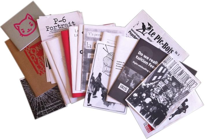 Artéfacts d'un Printemps québécois Archive zine header